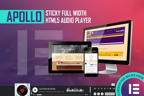 CodeCanyon Apollo Sticky Full Width HTML5 Audio Player For Elementor