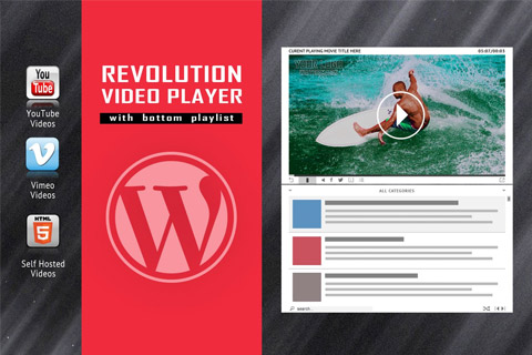 CodeCanyon Revolution Video Player With Bottom Playlist