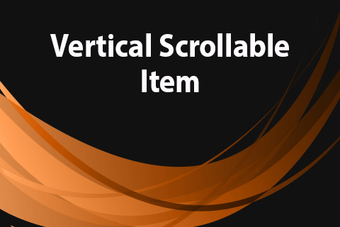 JoomClub Vertical Scrollable Item