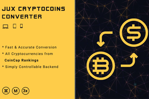 JUX Cryptocoins Converter