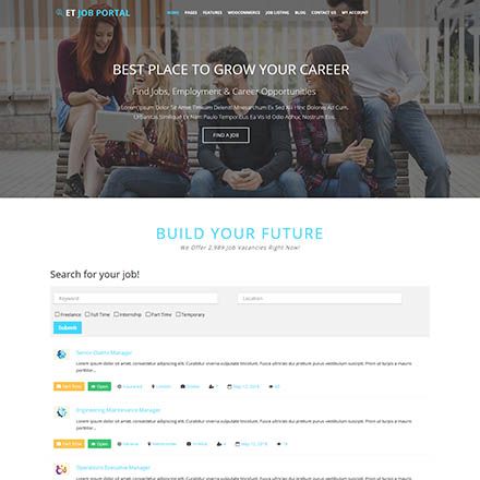 EngineTemplates Job Portal