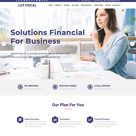 LTheme Fiscal Onepage