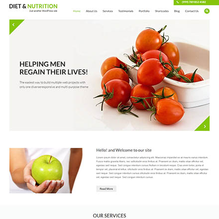 SKT Themes Diet And Nutrition Pro