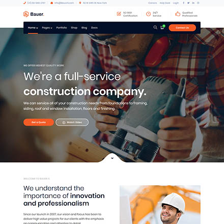 ThemeForest Bauer