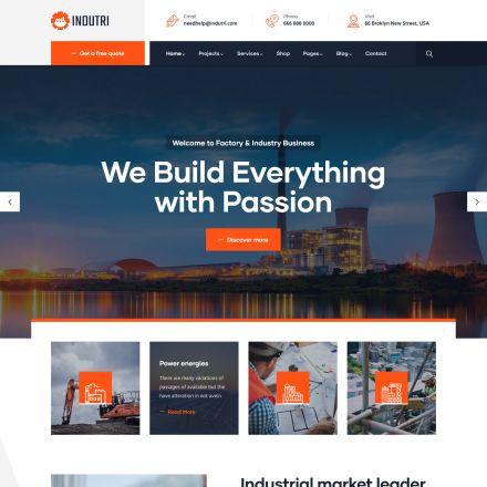 ThemeForest Indutri