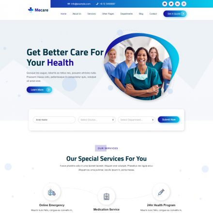 ThemeForest Mecare