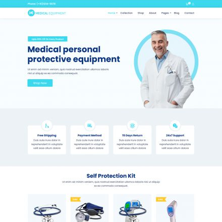 ThemeForest Medical Equipment