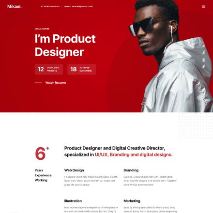 ThemeForest Mikael
