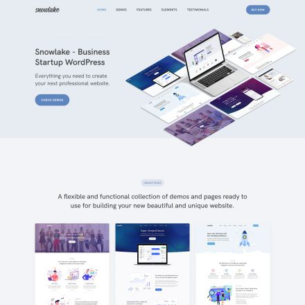 ThemeForest Snowlake