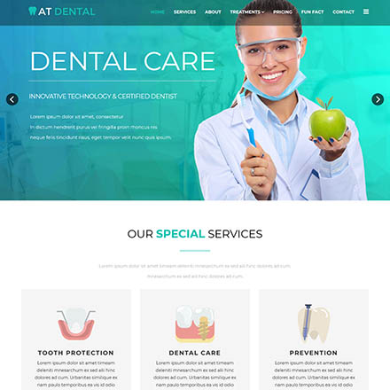 AGE Themes Dental Onepage