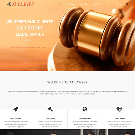 AGE Themes Lawyer Onepage