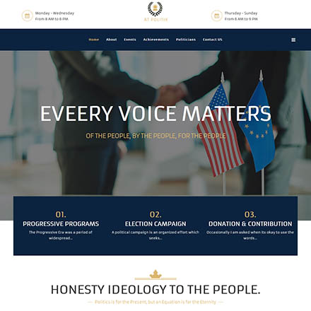 AGE Themes Politix Onepage