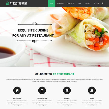 AGE Themes Restaurant Onepage