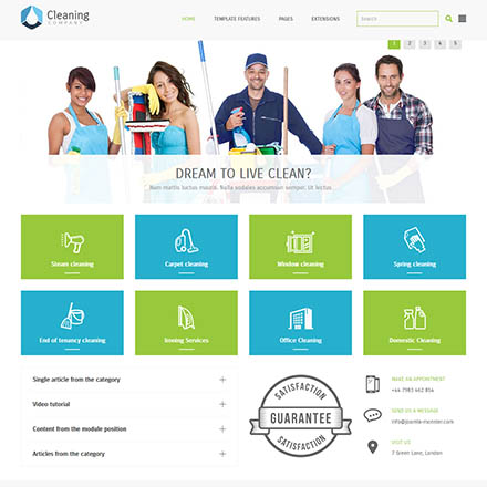Joomla-Monster Cleaning Company