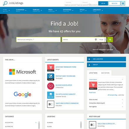 Joomla-Monster Job Listings