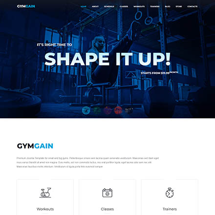 ThemeForest GymGain