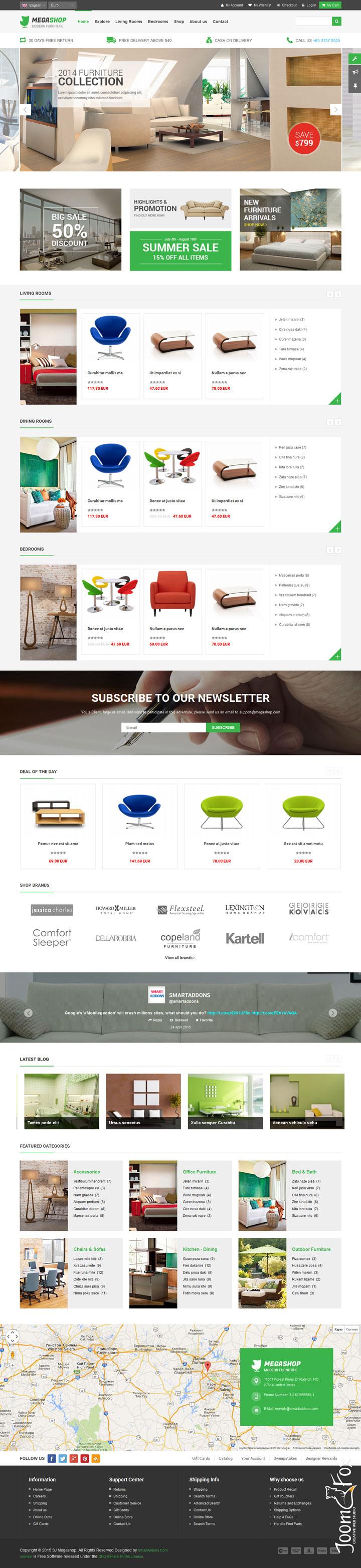 Скачать шаблон интернет магазин мебели